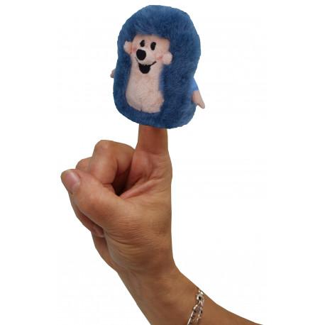 Maňásek ježek - prstový, 8 cm