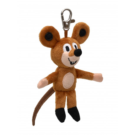 Myška (Krteček) s karabinkou - 12 cm