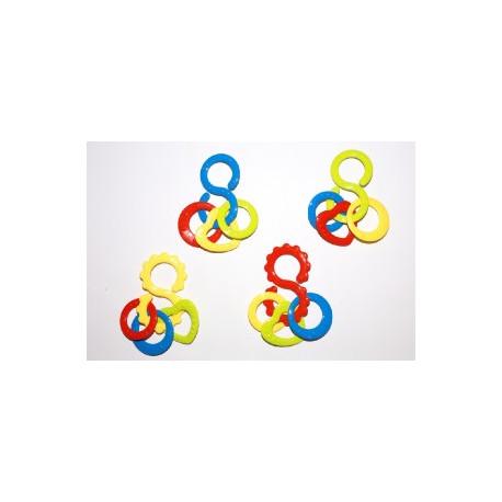Kousátko osmička s přívěsky - barevné
