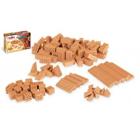 Stavebnice Teifoc - Cihličky 100ks v krabici