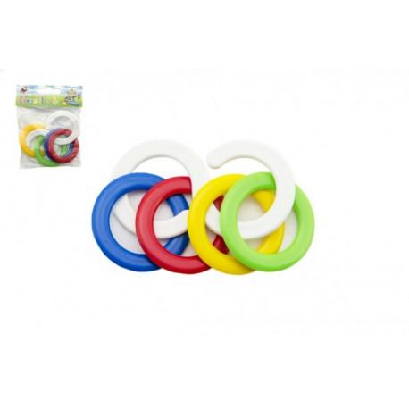 Kousací kroužky - barevné