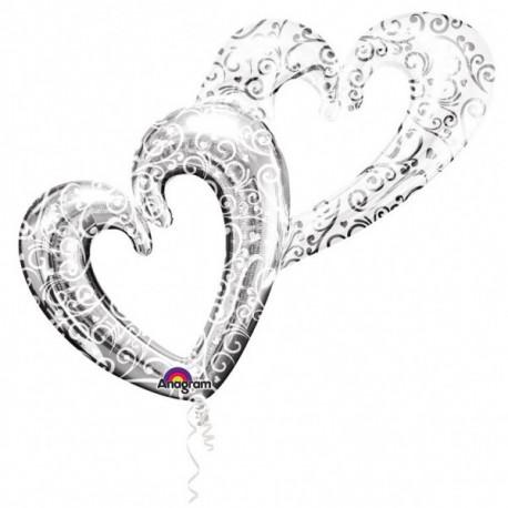 Fóliový balónek - svatební srdce