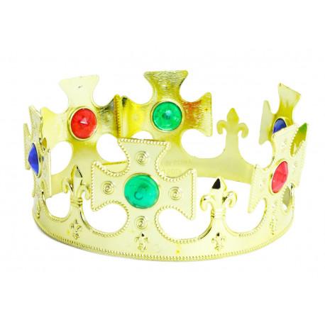 Královská koruna - plastová, zlatá