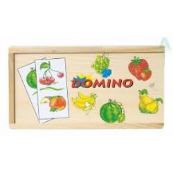 Domino dřevěné - ovoce