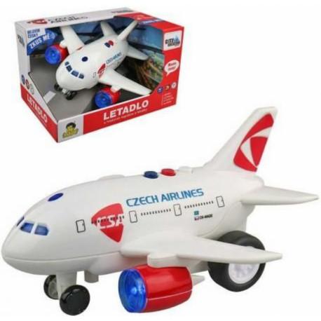 Letadlo ČSA s českým hlášením
