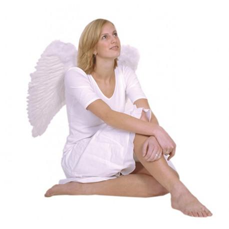 Křídla andělská - péřová, bílá