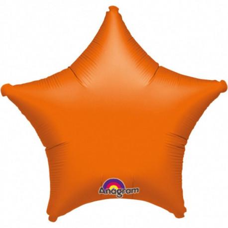 Fóliový balónek - Hvězda, oranžová
