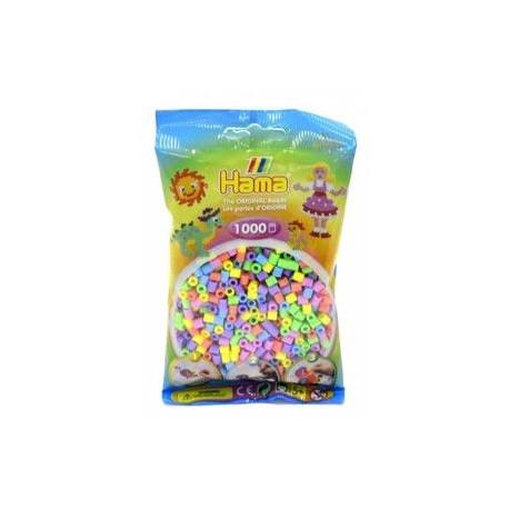Zažehlovací korálky - 1000 kusů, mix pastelových barev