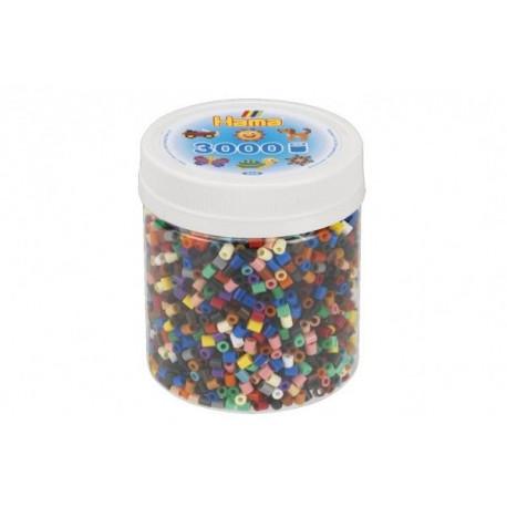 Zažehlovací korálky - 3000 korálků, mix barev