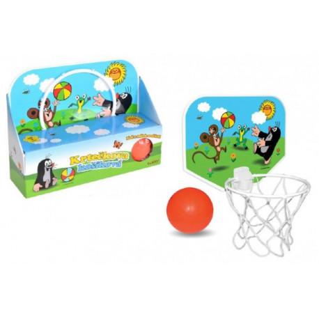 Koš na basketbal Krtek 33x22cm plast v krabici