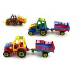 Traktor s vlekem - plastový, 37 cm