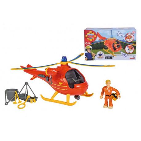 Požárník Sam - Vrtulník Wallaby s figurkou