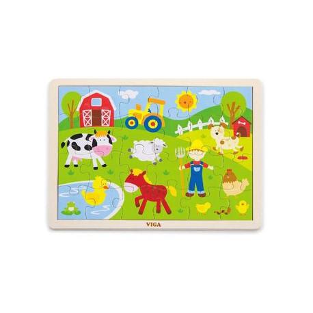 Dřevěné puzzle - Farma, dílků