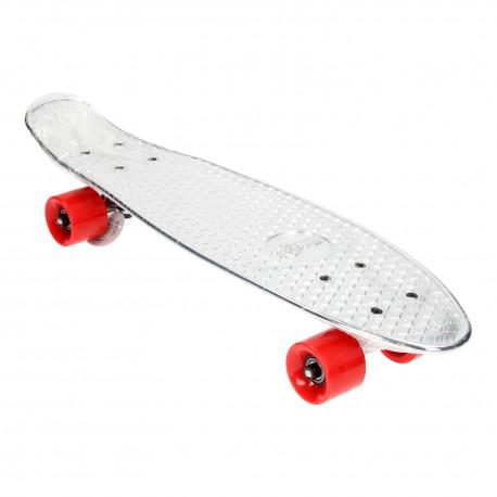 Skateboard/Pennyboard - stříbrný