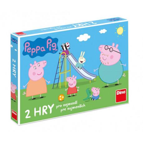 Prasátko Peppa/Peppa pig - Pojď si hrát a skluzavky