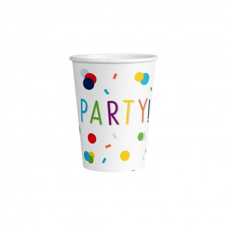 Kelímky PARTY - papírové, 250 ml