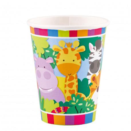 Kelímky Safari zvířátka - papírové, 250ml