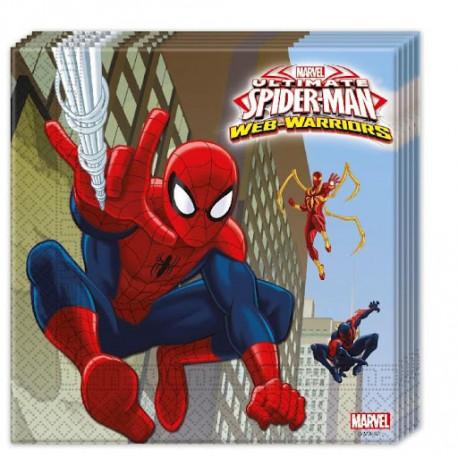 Ubrousky SPIDERMAN - papírové, 20 kusů