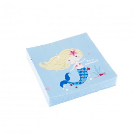 Ubrousky Mořská víla - papírové, 20 kusů