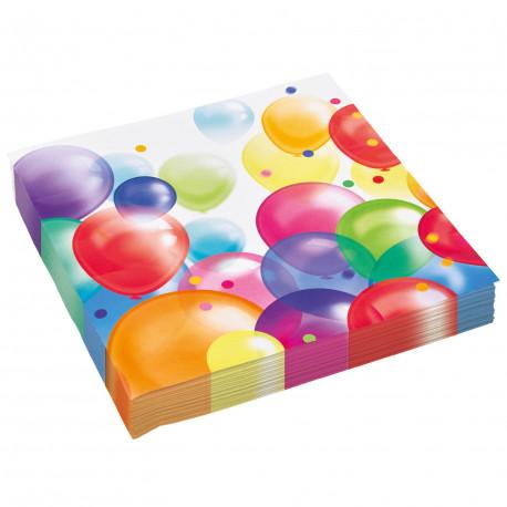 Ubrousky Party balonky - papírové, 20 kusů