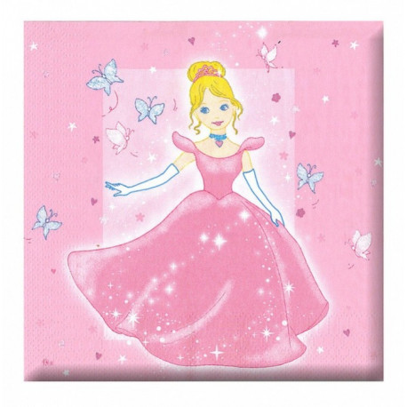Ubrousky Princezna - papírové, 12 kusů