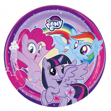 Talířky My Little Pony - papírové, 8 kusů