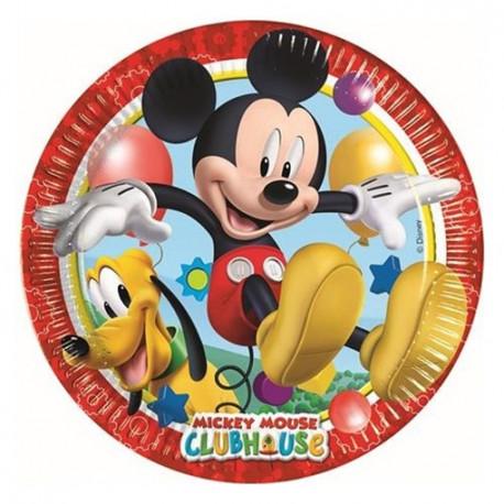 Talířky Mickeyho klubík - papírové, 8 kusů