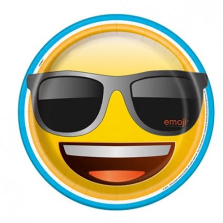 Talířky Emoji - papírové, 8 kusů