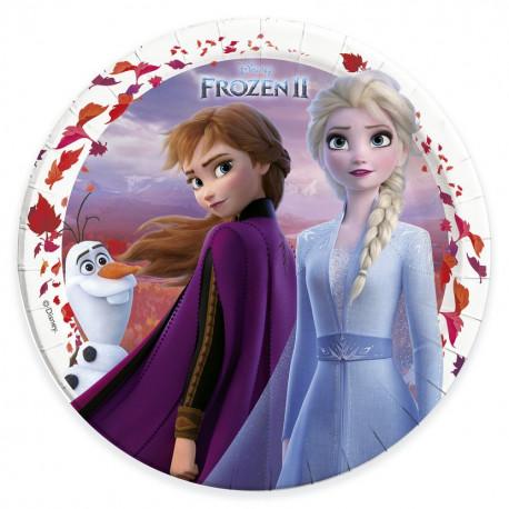 Talířky Frozen - papírové, 8 kusů