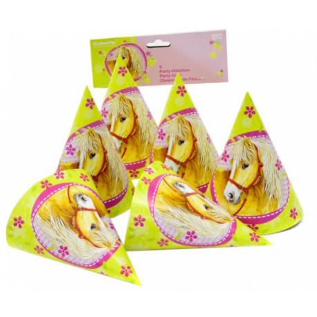 Party čepičky Koně - papírové, 6 kusů