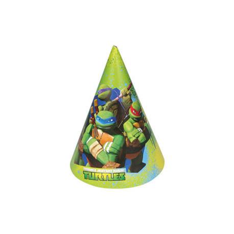 Party čepičky Želvy Ninja - papírové, 6 kusů