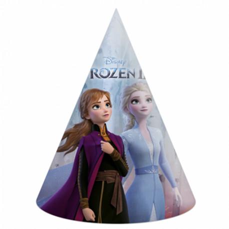 Party čepičky Frozen - papírové, 6 kusů