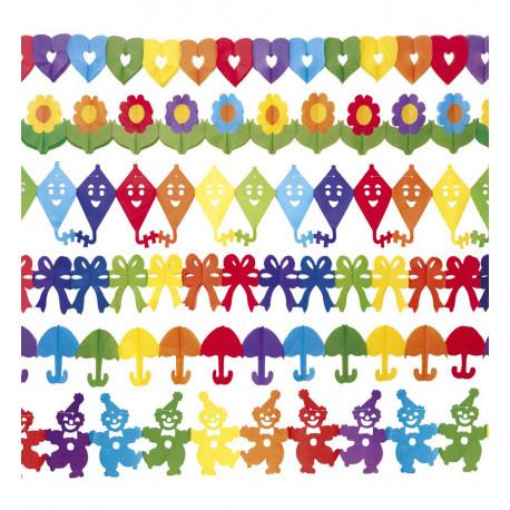 Narozeninová Girlanda - Papírová, mix druhů
