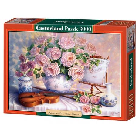 Puzzle Růžové růže - 3000 dílků