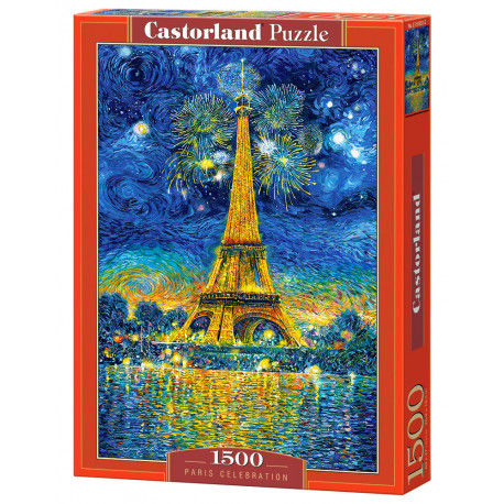 Puzzle Paris Celebration , Eifelovka - 1500 dílků