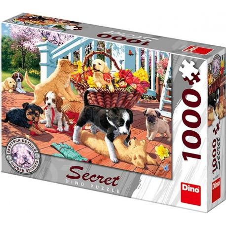 Puzzle Secret Štěňata - 1000 dílků