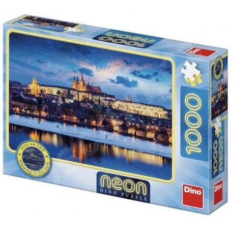 Puzzle Pražský hrad, Neon - 1000 dílků