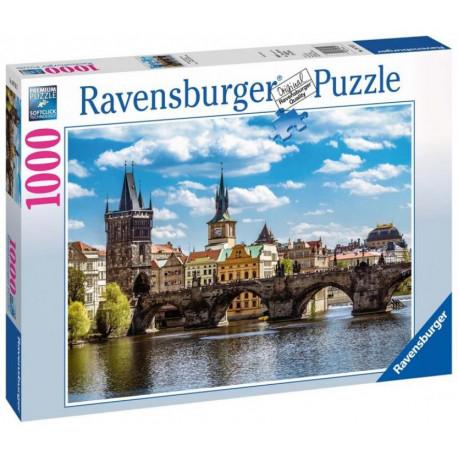 Puzzle Praha: Pohled na Karlův most - 1000 dílků