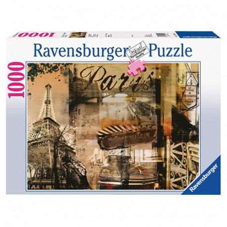Puzzle Paříž koláž - 1000 dílků