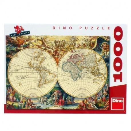 Puzzle Mapa - 1000 dílků