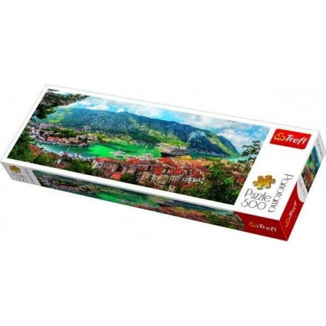 Puzzle Kotor Montenegro - 500 dílků, Panorama