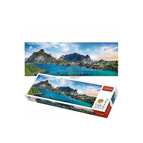 Puzzle Lofoten Archipelago Norsko - 500 dílků, Panorama