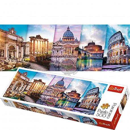 Puzzle Koláž Itálie - 500 dílků, Panorama