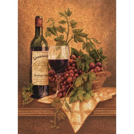 Puzzle Zátiší s vínem - 500 dílků, korkové