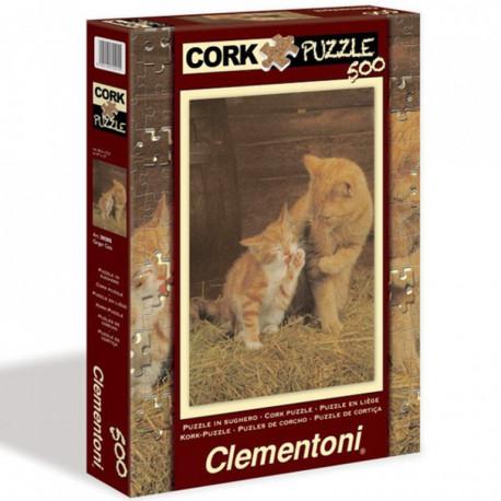 Puzzle Ginger Cats - 500 dílků, korkové