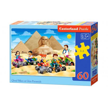 Puzzle Čtyřkolky u pyramid v Gíze - 60 dílků