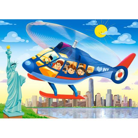 Puzzle Vyhlídkový let vrtulníkem - 60 dílků