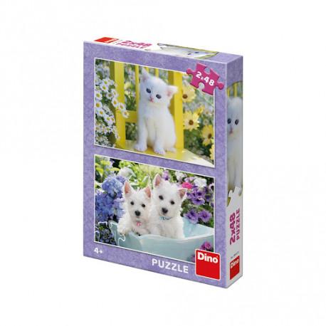 Puzzle Kočička + pejskové