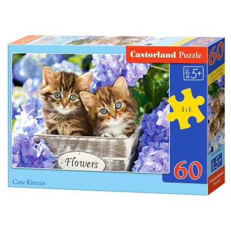Puzzle Roztomilá koťátka - 60 dílků