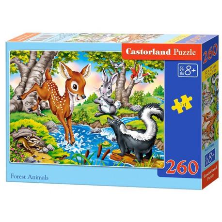 Puzzle Lesní zvířátka - 260 dílků